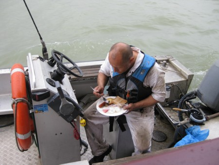 Breakfast on the Tender
