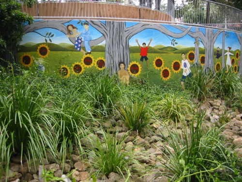 'Hello Wall' - Roma Street Parklands