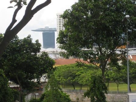Marina Bay Sands' Tower One just visible from Park Hotel