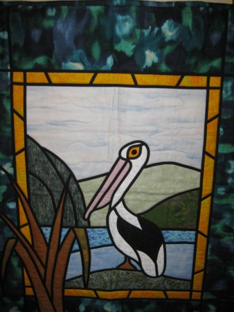 Murray River Pelican Quilt - Murray Bridge