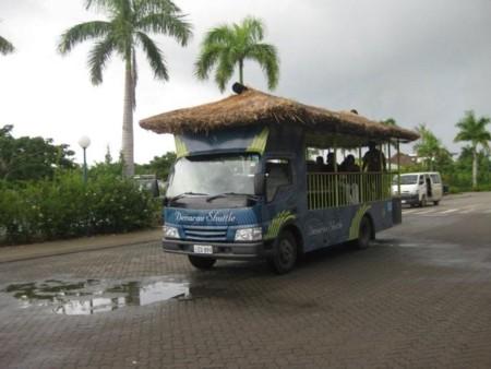 Port Denarau's Thatched Shuttle Bus