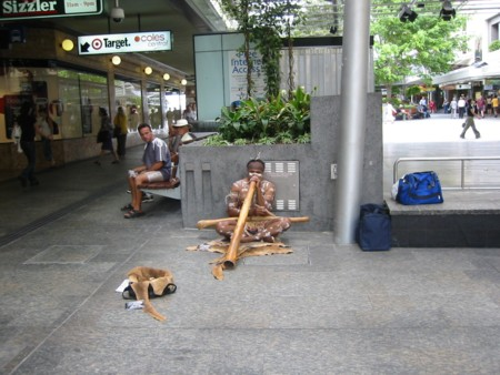 Queen Street Mall - Didgeridoo Player