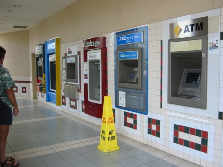 Robina Town Centre's bank of ATMs