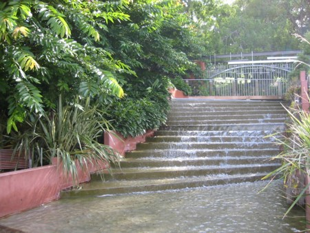 Roma Street Gardens Waterfall Steps