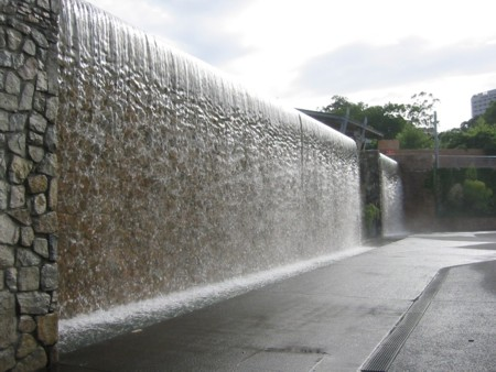 Roma Street Parklands Water Wall