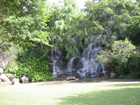 Roma Street Parklands Waterfall