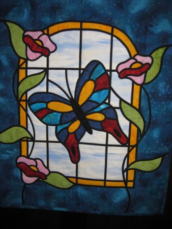 Stained Glass Window Quilt - Round House Murray Bridge