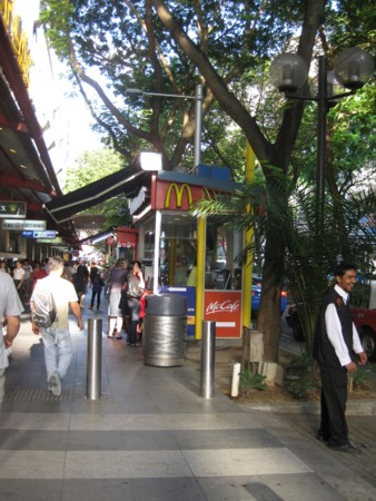 Tiny McDonalds Cafe on Orchard Road