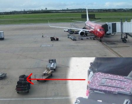 Virgin Plane at Brisbane and My Suitcase