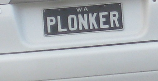 Number Plate I saw here in Perth