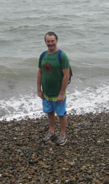 Soaking David at Gap Beach