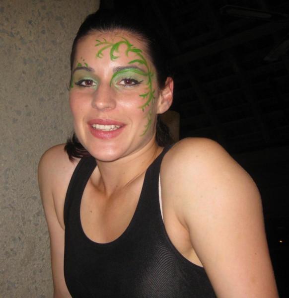 Monica's Circus Makeup