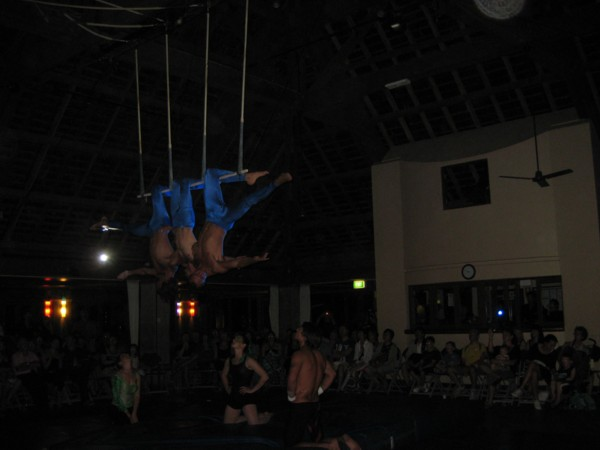 Circus G.O.s on a Triple Trapeze