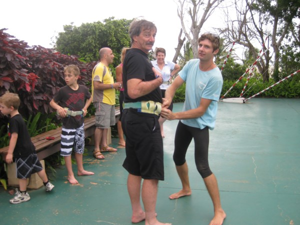 Byron harnessing David