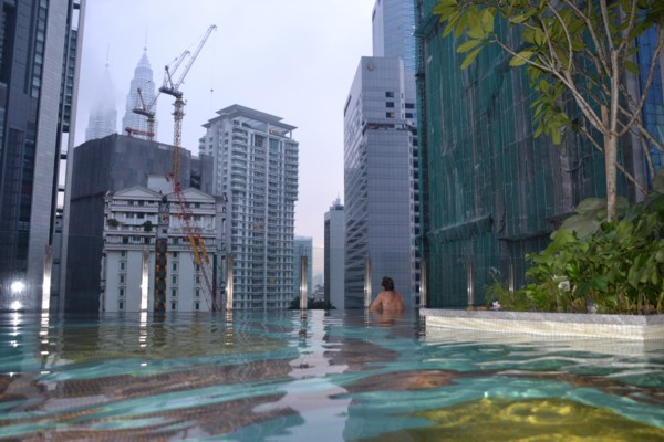 View from G Tower Hotel's Freezing Infinity Pool