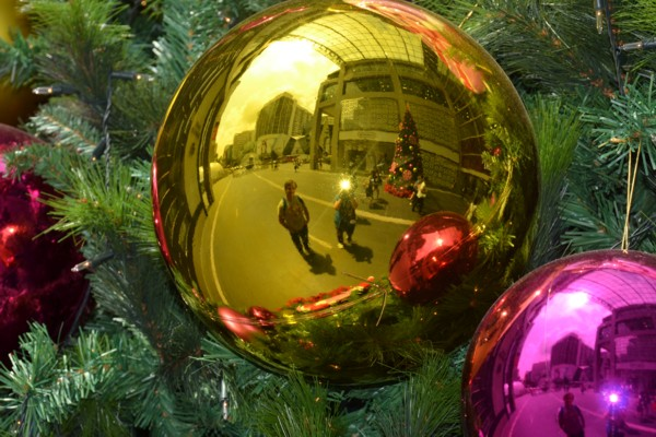 Huge Christmas Bauble Reflections