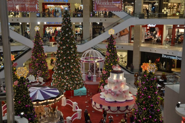 Pavilion's Central Christmas Display