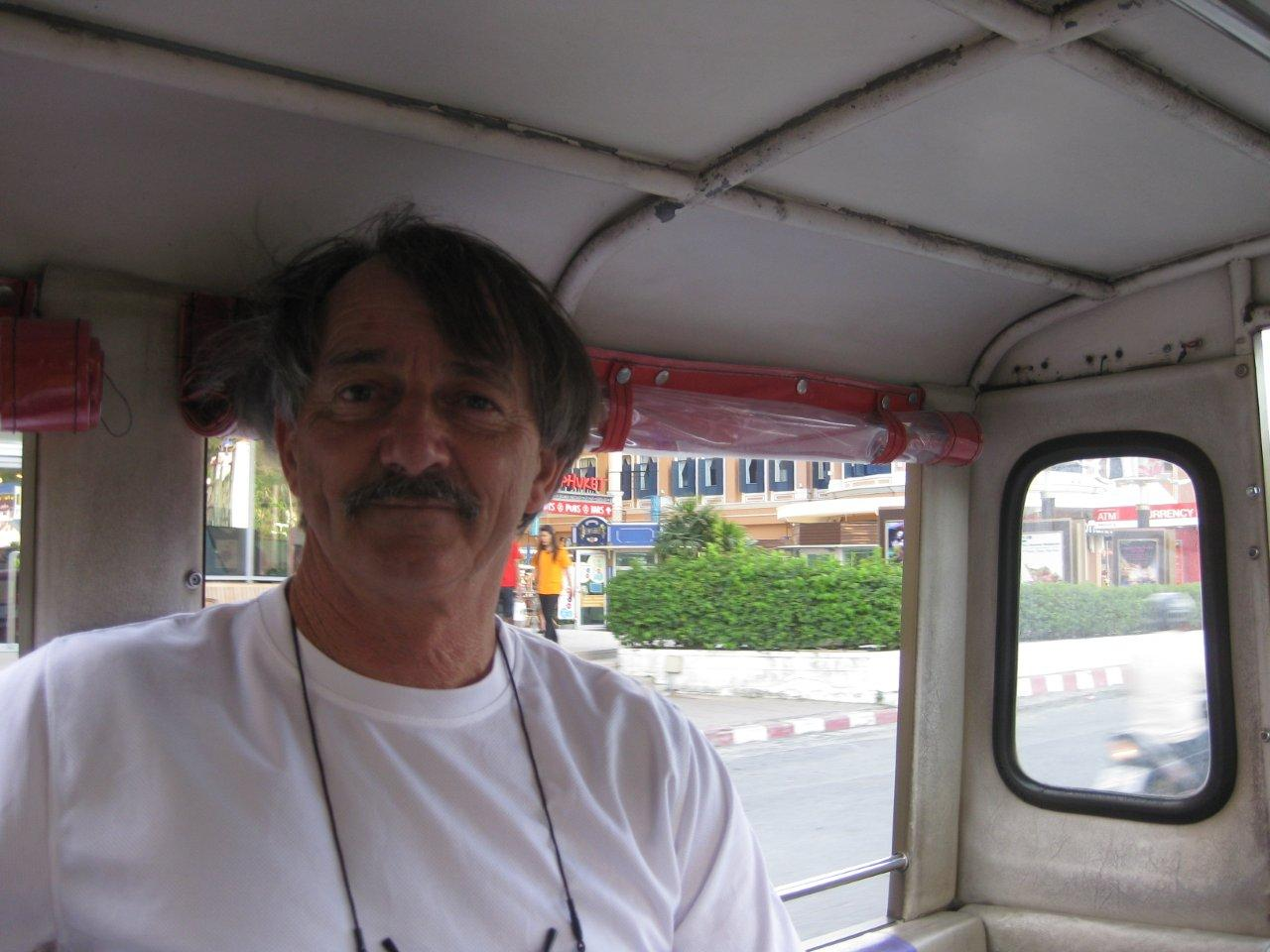 David in the Tuk Tuk